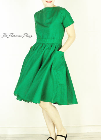Sardinia Dress in Green