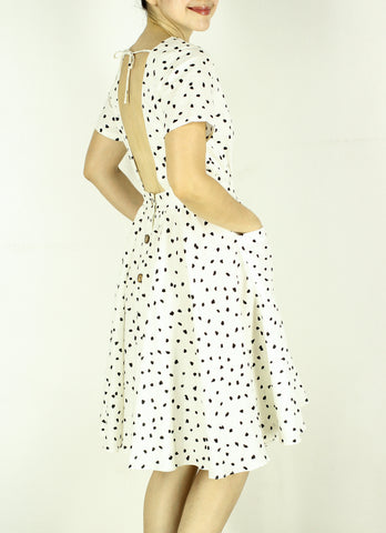 Sardinia Dress in Dotty Print