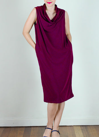 Sonny Jersey Dress in Maroon