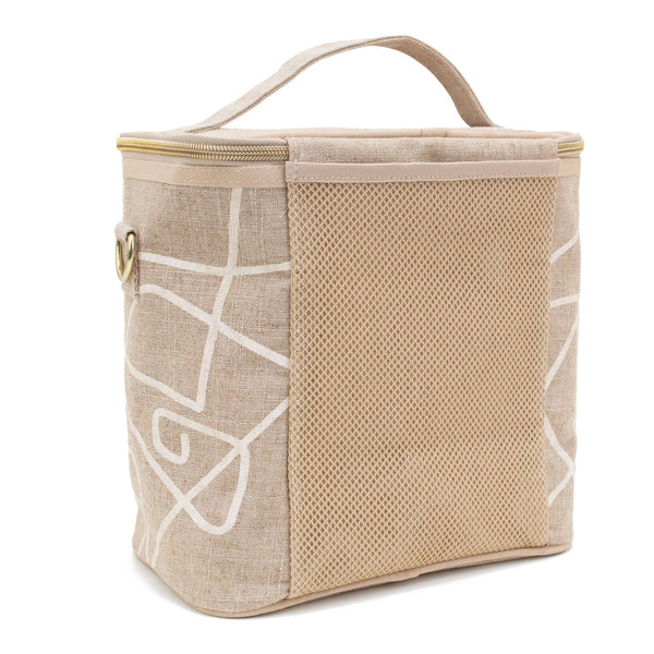 Linen - Abstract Lines Lunch Poche