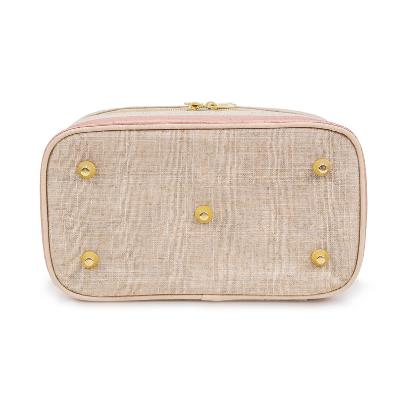 Linen - Rose Gold Colour Block Beauty Poche