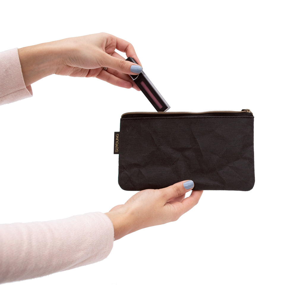 Essentials Pouch - Kraft + Black Washable Paper