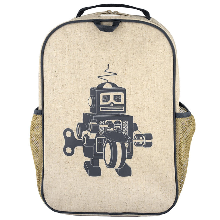 Grey Robot Grade School Backpack
