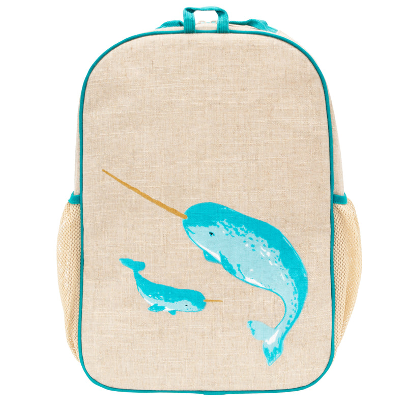 Teal Narwhal Grade School Backpack