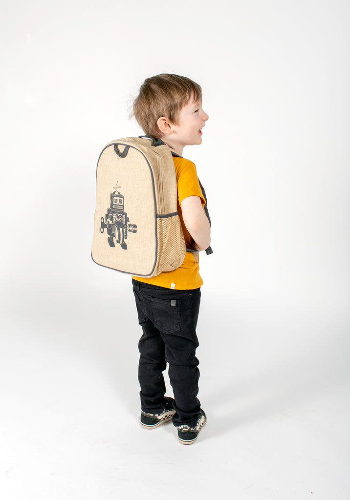 Grey Robot Toddler Backpack