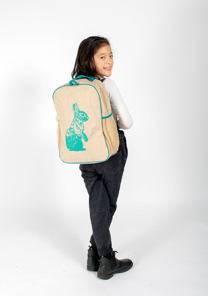 Aqua Bunny Grade School Backpack