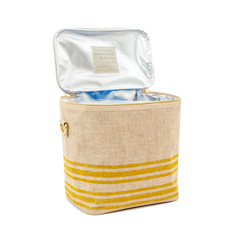 Linen - Mustard Stripe Lunch Poche