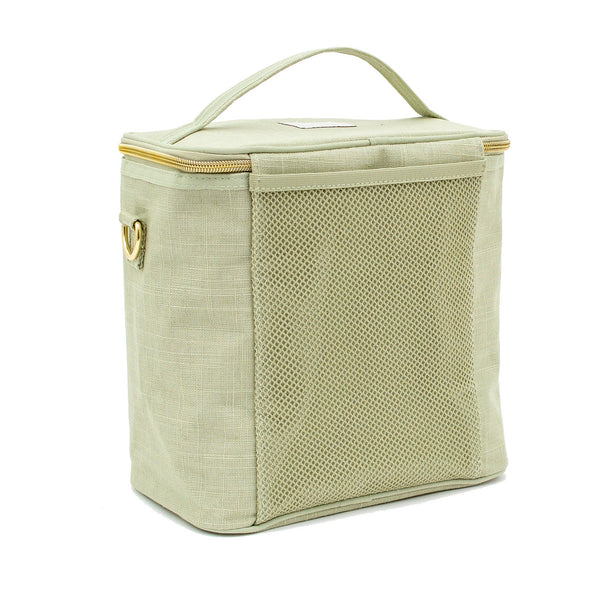 Linen - Sage Green Lunch Poche