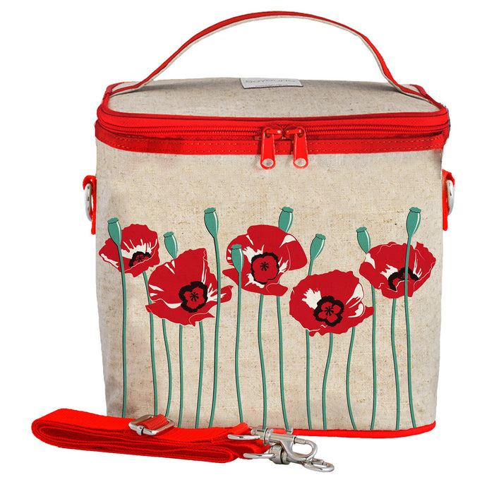 Red Poppy Large Cooler Bag