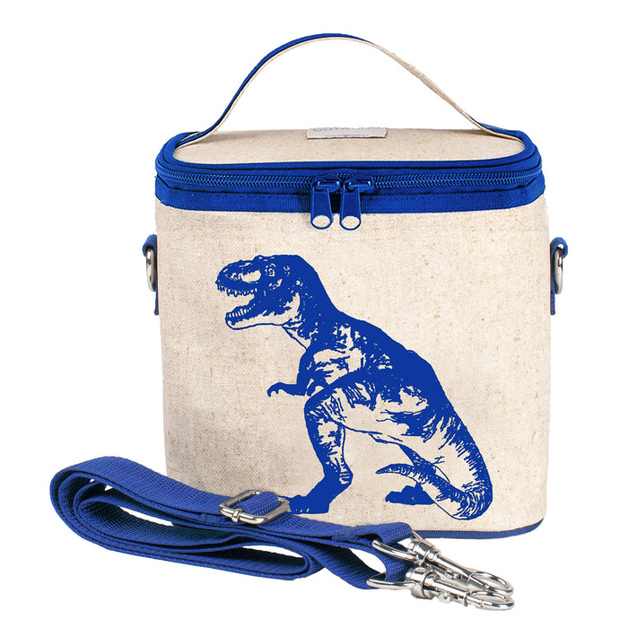 Blue Dino Small Cooler Bag