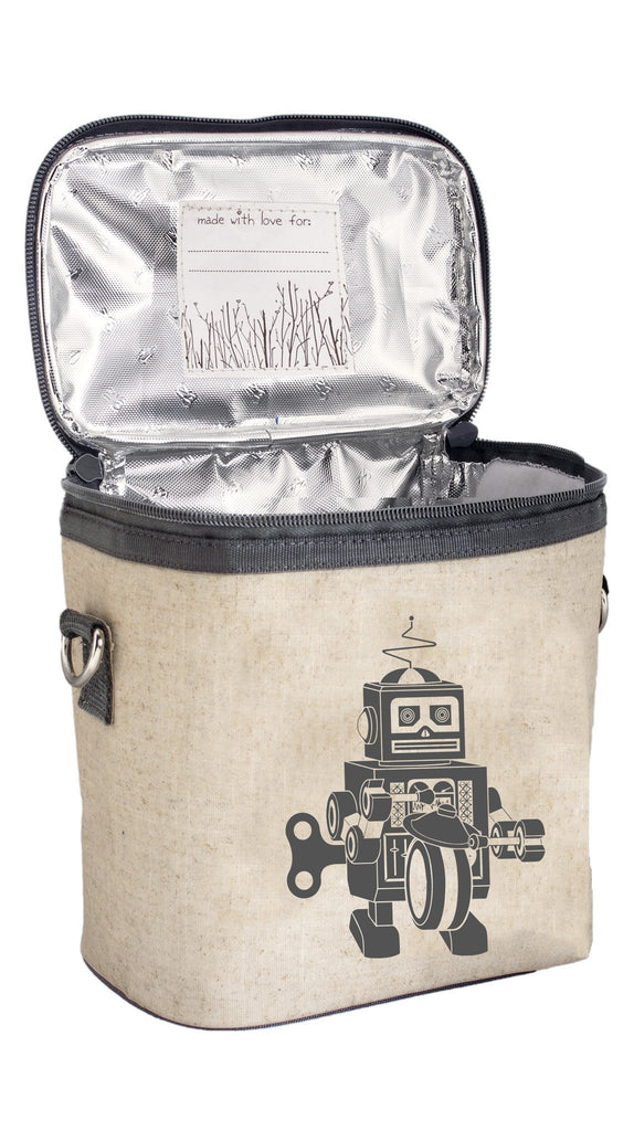 Grey Robot Small Cooler Bag
