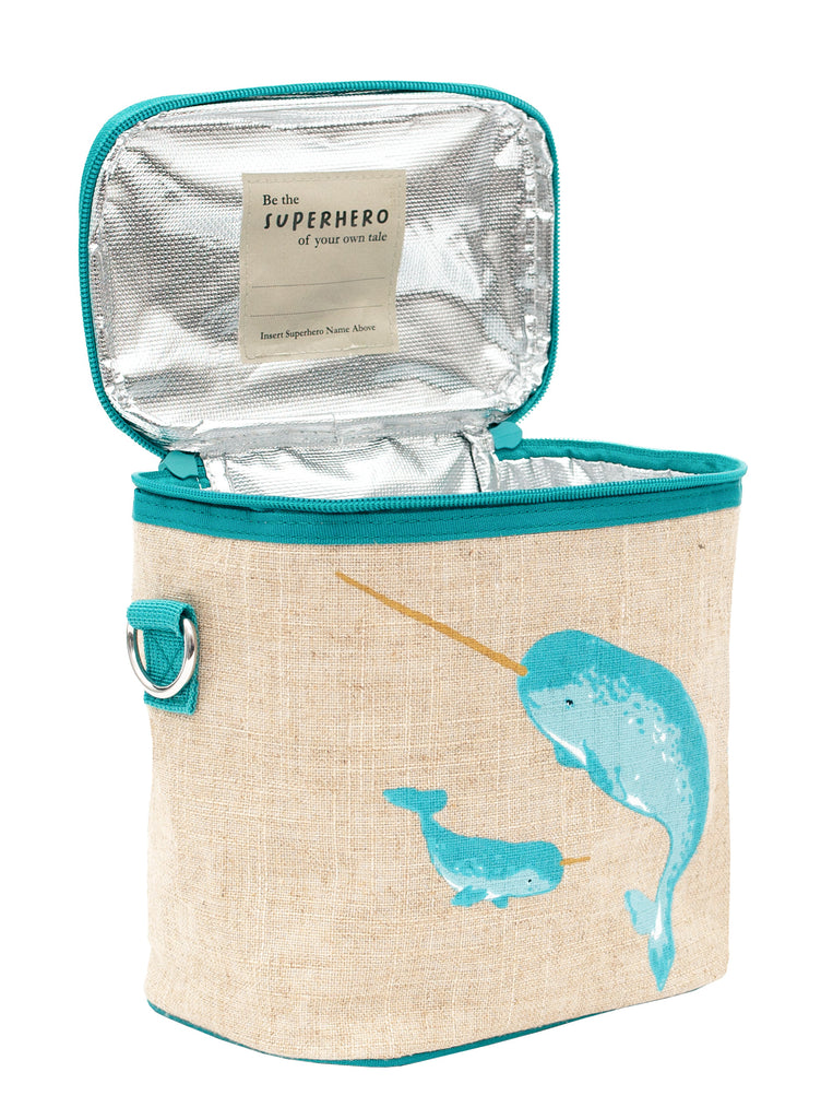 Teal Narwhal Small Cooler Bag