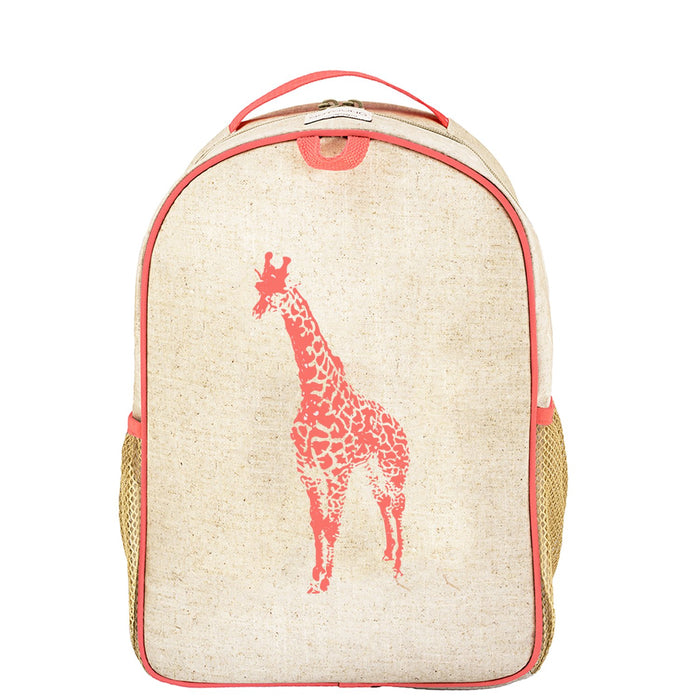 Neon Orange Giraffe Toddler Backpack