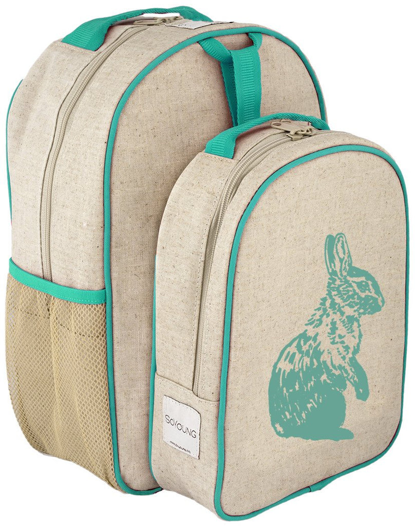 Aqua Bunny Matching Lunch Box to Toddler Backpack