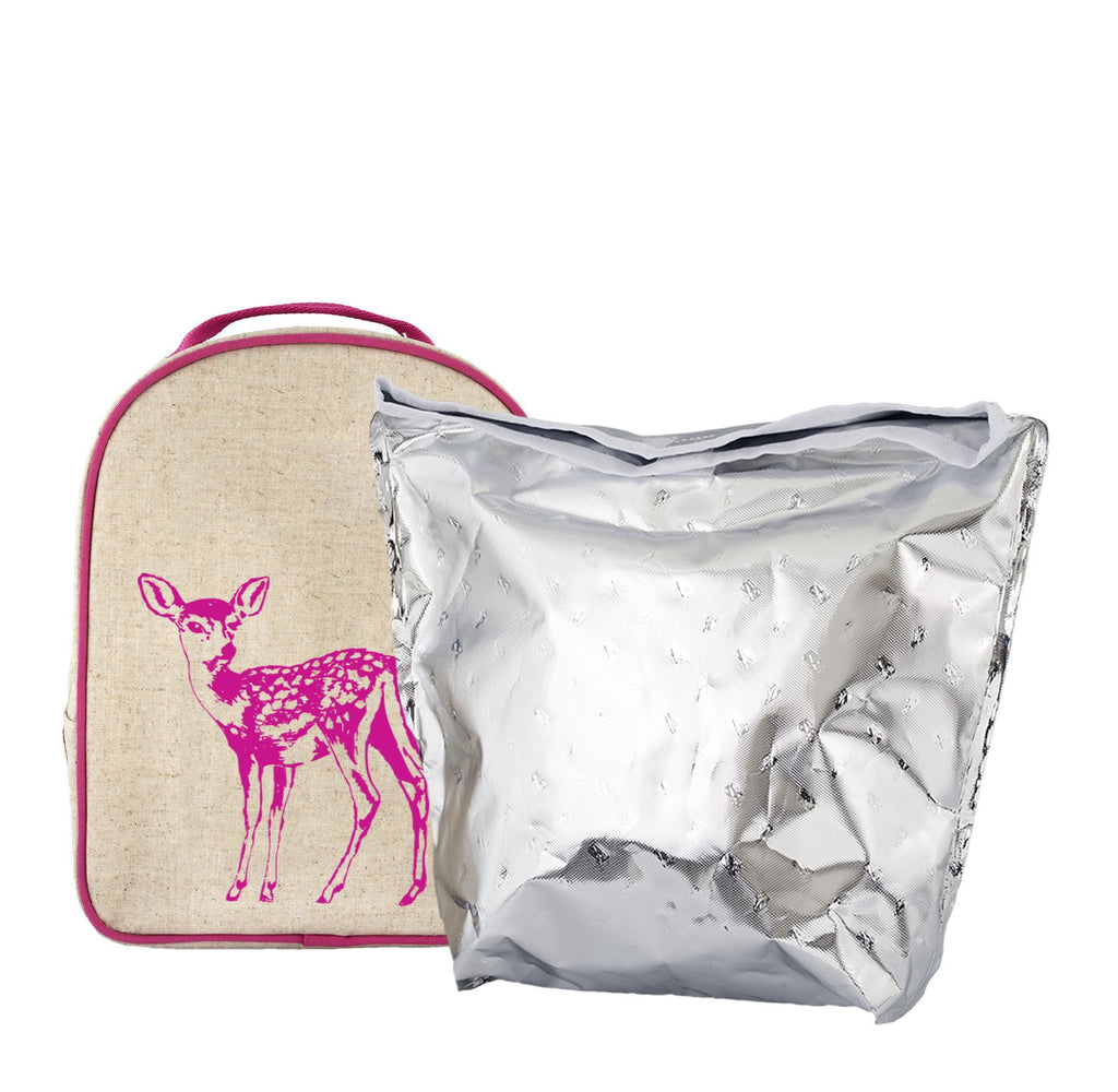 Pink Fawn Matching Lunch Box to Toddler Backpack