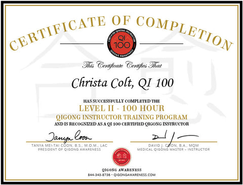 Level II - QI 100 - Certified Qigong Instructor
