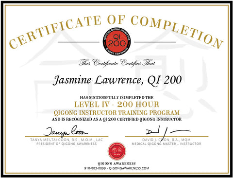 Level IV - QI 200 - Certified Qigong Instructor