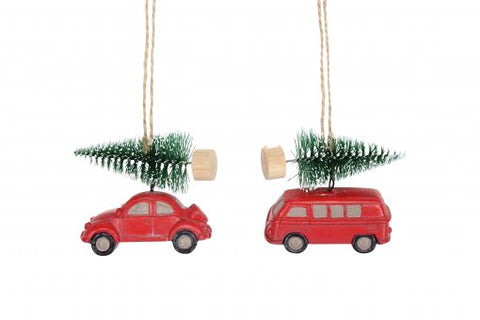 Car and Fir Tree Decoration