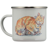Tibs The Post Office Cat Enamel Mug