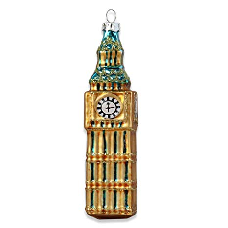Big Ben Painted Glass Christmas Decoration