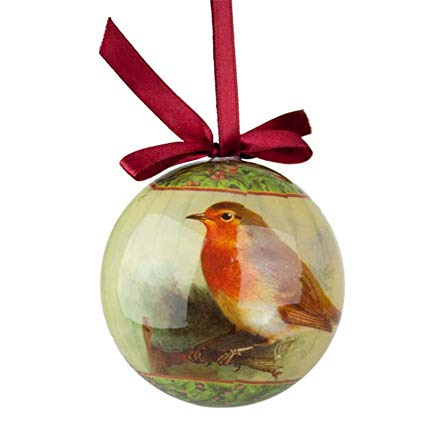 Robin Paper Ball Christmas Decoration