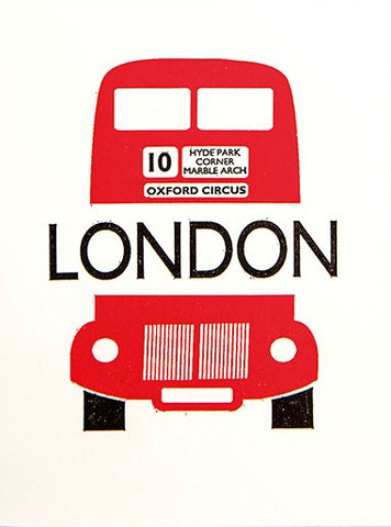 London Bus Greetings Card