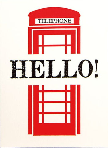 Hello Phone Box Greetings Card