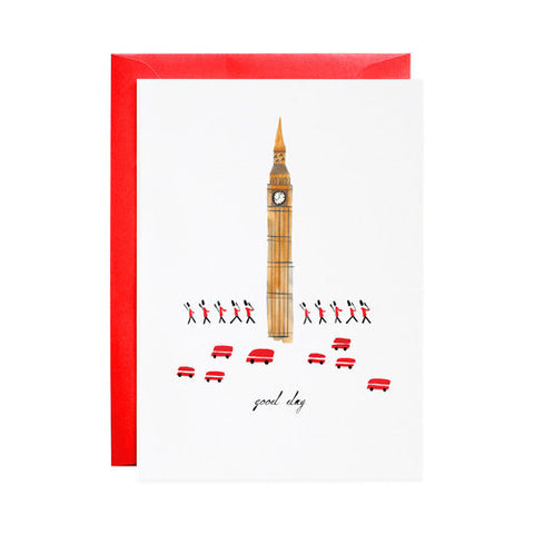 Mr Boddington A Good Day from London Greetings Card