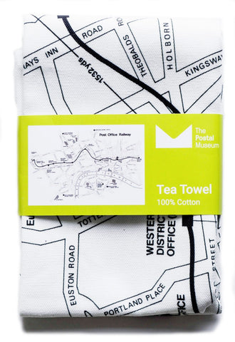 Post Office Railway Map tea towel