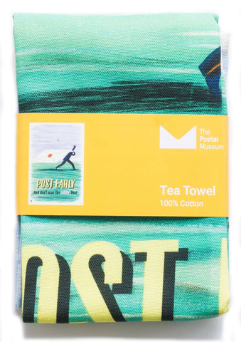 Post Early tea towel