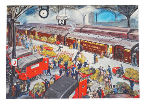 London Loading Platform Greetings Card