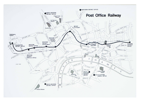 Post Office Railway Map Greetings Card
