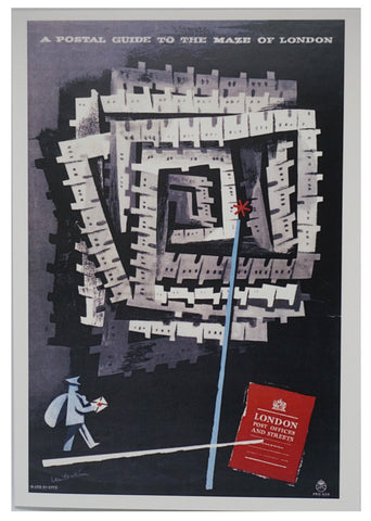 Maze of London Greetings Card