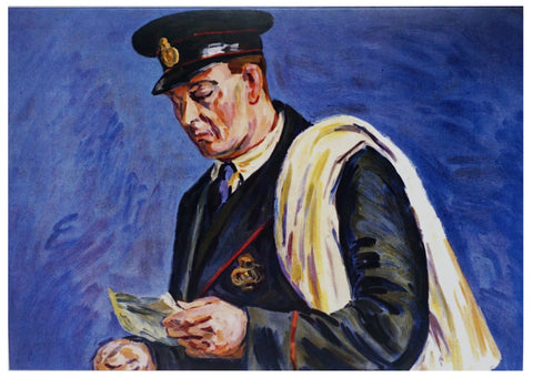 Painting of a Postman Greetings Card