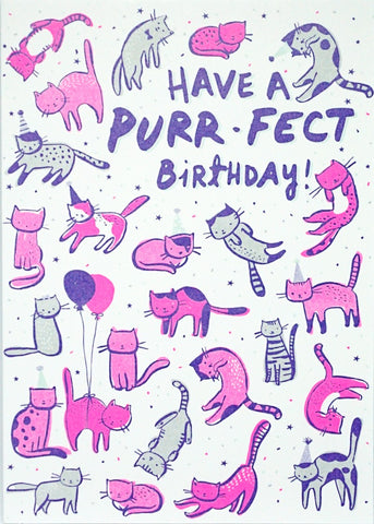 Purr-fect Birthday Greetings Card