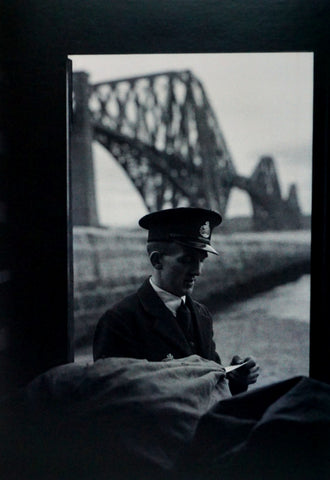 Postman at Forth bridge Greetings Card