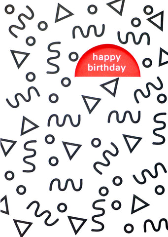 Happy Birthday Cut Out Card
