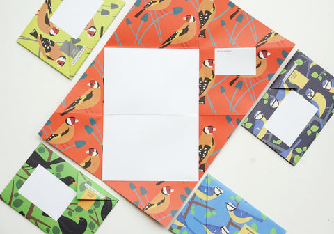Dawn Chorus Pigeon Origami Envelopes