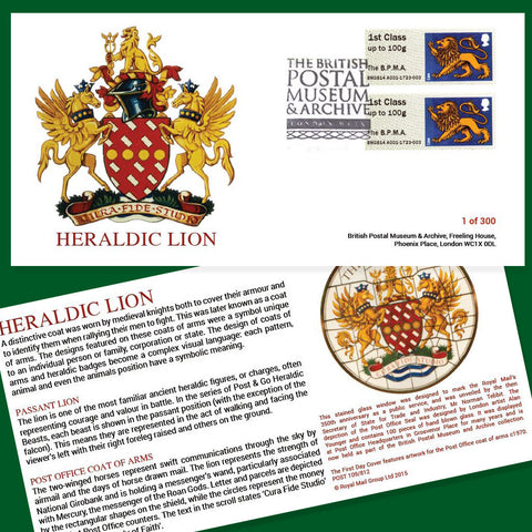 Heraldic Lion First Day Cover