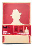 Three Notebooks set: Crime & the Post