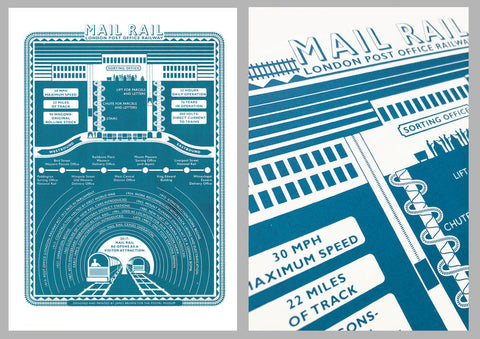 James Brown Mail Rail Print