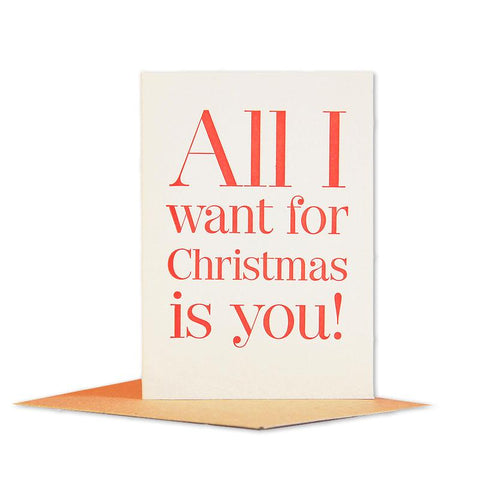All I Want For Christmas Mini Card