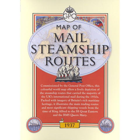 Map of Mail Steamship Routes