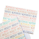Mr Boddington Hello Goodbye notecard set