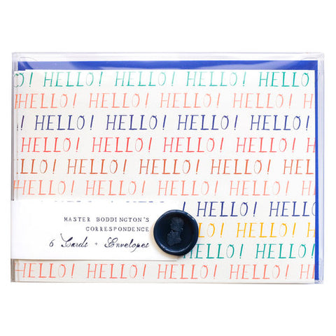 Hello Goodbye notecard set