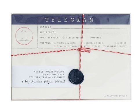 Telegram postcards set