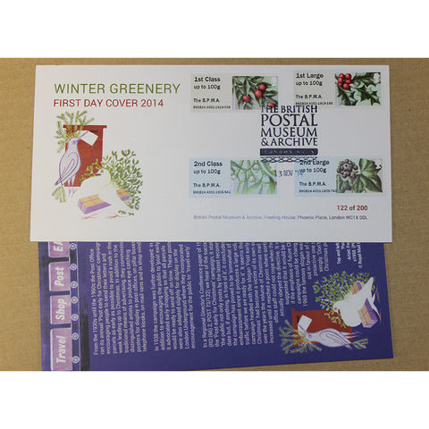 Post & Go First Day Cover Winter Greenery