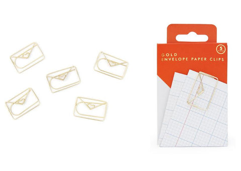 Gold Envelope Paperclips