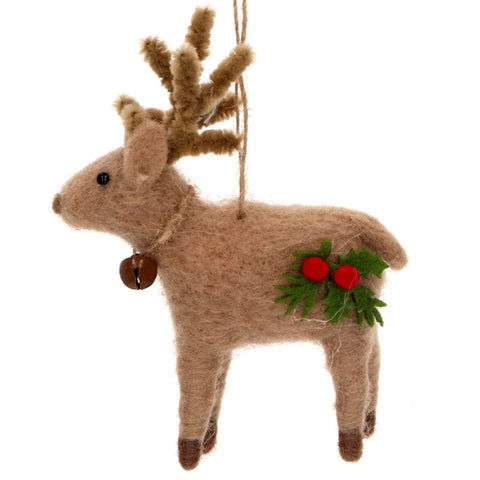 Wool Reindeer Decoration