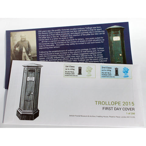 Post & Go First Day Cover Trollope